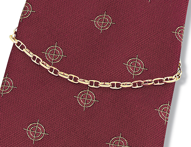 Anchor Chain Miniature Tie Chain
