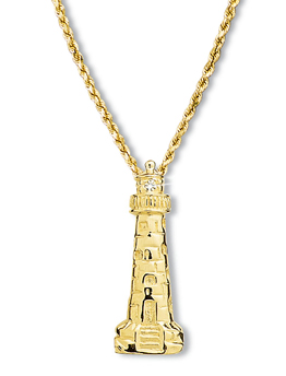 Lighthouse Pendant Large w/Diamond Beacon
