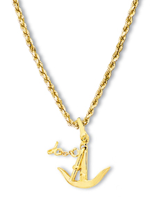 Herreshoff Anchor Pendant Small
