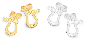 Shackle Earrings Miniature Stud
