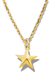 Star Pendant Faceted