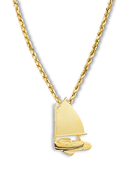 Catboat Pendant Small