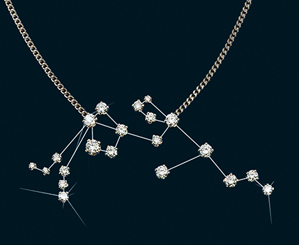 Diamond Constellation Aquarius Necklace 18