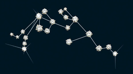 Diamond Constellation Aquarius Pin
