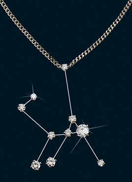 Diamond Constellation Lyra Pendant
