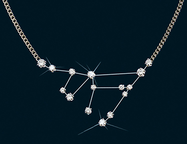 Diamond Constellation Capricorn Necklace 18