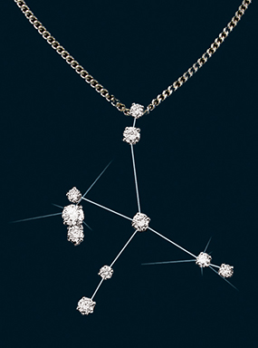 Diamond Constellation Aquila Pendant