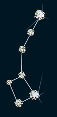 Diamond Constellation Little Dipper Pin