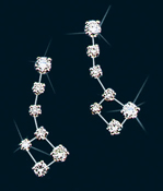Diamond Constellation Little Dipper Earrings