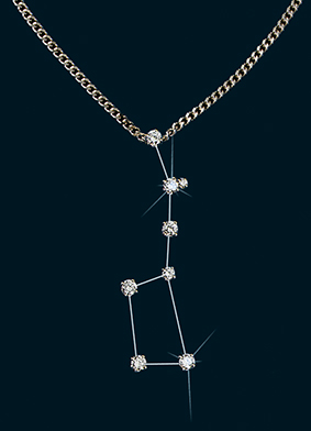 Diamond Constellation Big Dipper Pendant
