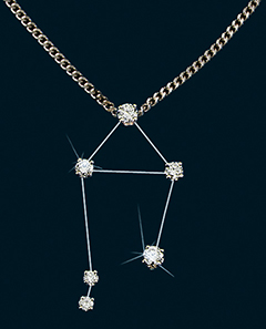 Diamond Constellation Libra Pendant