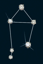 Diamond Constellation Libra Pin