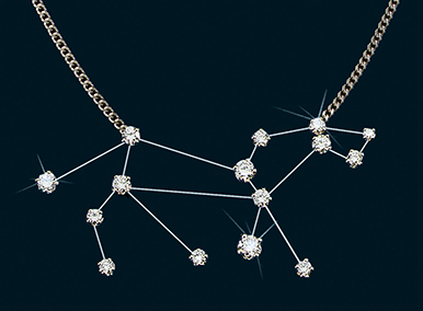 Diamond Constellation Leo Necklace 18