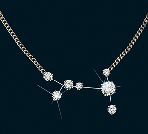 Diamond Constellation Canis Major Necklace 18