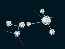Diamond Constellation Canis Major Pin