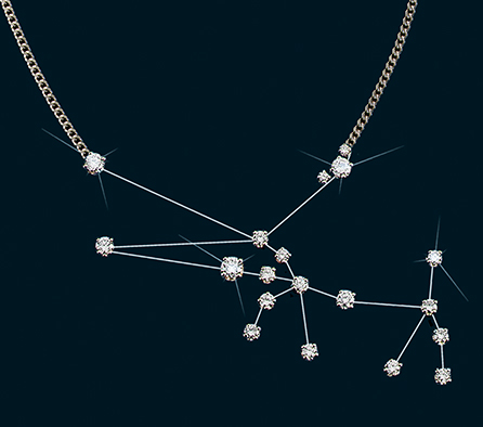 Diamond Constellation Taurus Necklace 18