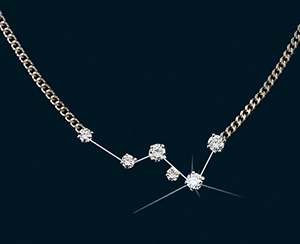 Diamond Constellation Cassiopeia Necklace 18