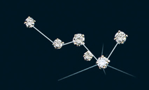 Diamond Constellation Cassiopeia Pin