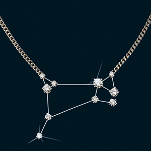 Diamond Constellation Aries Necklace 18