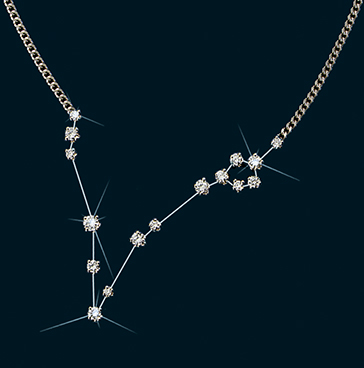 Diamond Constellation Pisces Necklace 18