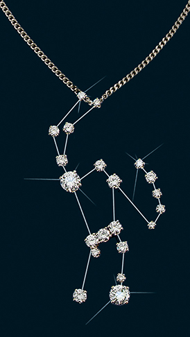 Diamond Constellation Orion Pendant