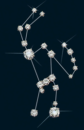 Diamond Constellation Orion Pin