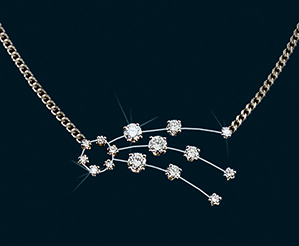 Diamond Comet Necklace 18