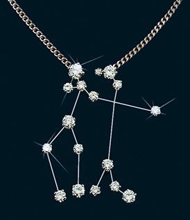 Diamond Constellation Gemini Necklace 18