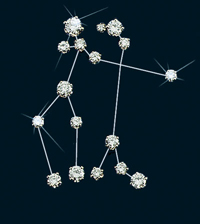 Diamond Constellation Gemini Pin