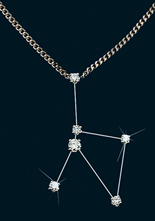 Diamond Constellation Cancer Pendant