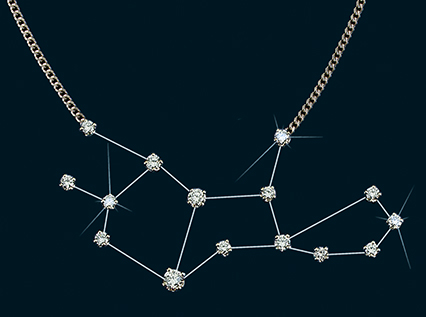 Diamond Constellation Virgo Necklace 18