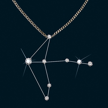 Diamond Constellation Cygnus Pendant