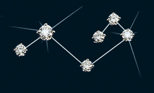 Diamond Constellation Pleiades Pin