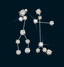 Diamond Constellation Gemini Earrings