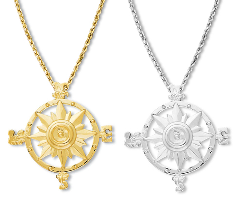 Compass Rose Pendant Large