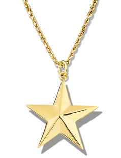Star Large Faceted Pendant