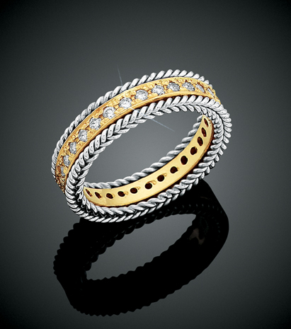 Rope Bands Ring Diamond