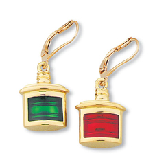 Port & Starboard Enamel Earrings