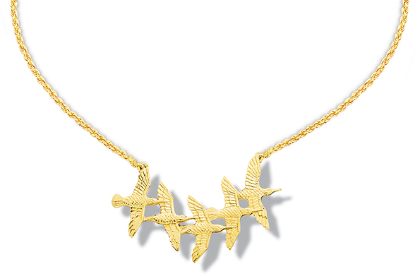 Sanderling Family In Flight Necklace 18
