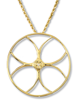 Contemporary Racing Wheel Pendant