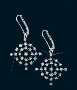 Center of Affection Diamond Dangle Earrings