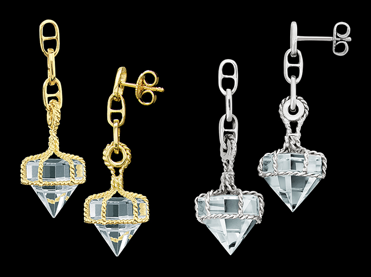 Deck Prism Crystal Dangle Earrings