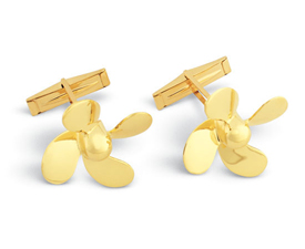 Propeller 4 Blade Cuff Links