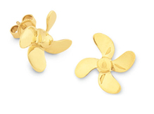 Propeller 4 Blade Earrings