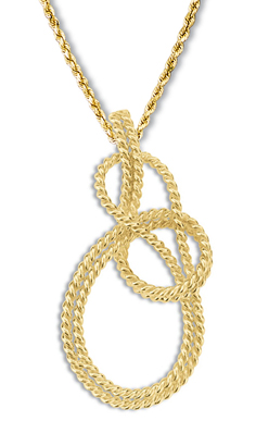 Bowline on Bight Hand-tied Pendant