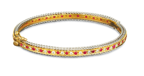 Rope Bands Bracelet Ruby/Diamond 7