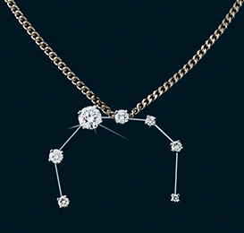 Diamond Constellation Corona Borealis Pendant