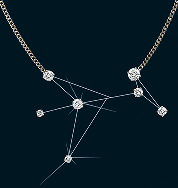 Diamond Constellation Phoenix Necklace 18