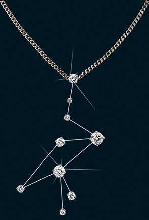 Diamond Constellation Crane Pendant