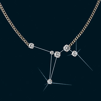 Diamond Constellation Dove Necklace 18